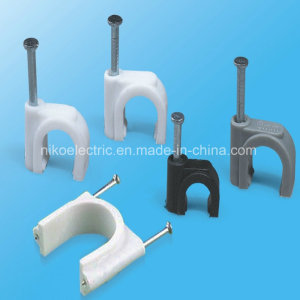 Porcelain White Circle Cable Clips